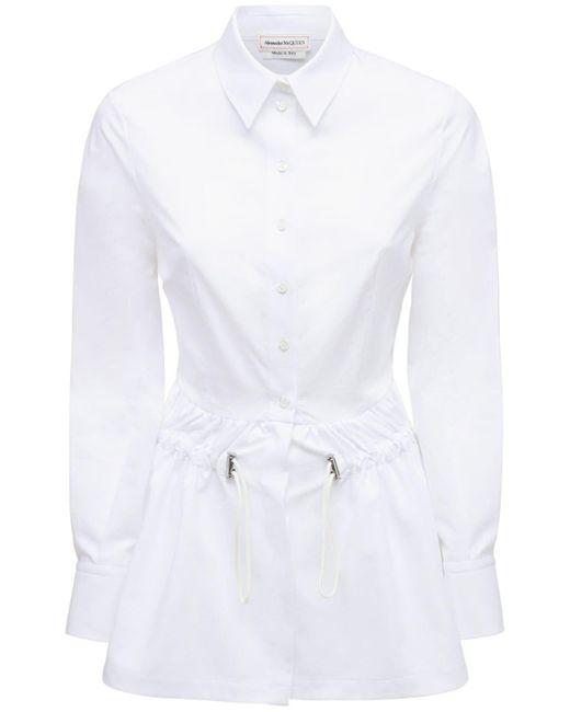 Alexander McQueen コットンポプリンシャツ White