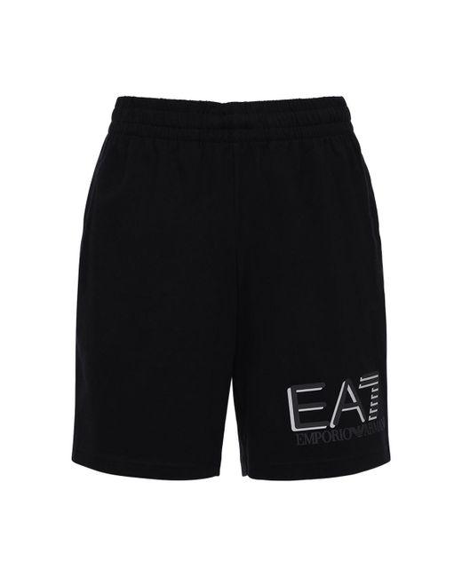 メンズ EA7 コットンバミューダ Black