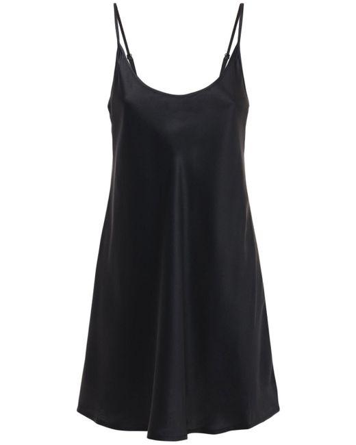 La Perla シルクローブミニドレス Black