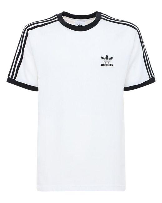 Adidas Originals 3-stripes コットンtシャツ White