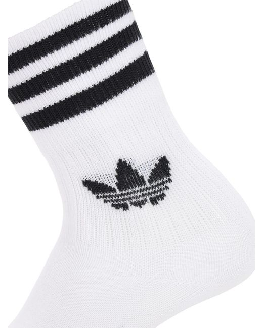 adidas Solid Crew 3er Pack socks red purple grey