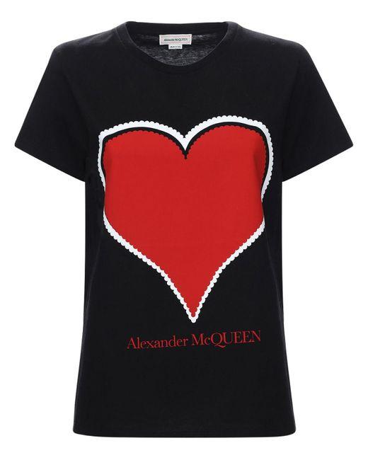 Alexander McQueen コットンジャージーtシャツ Black
