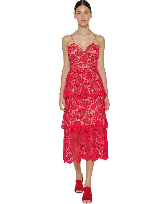Платье Миди Azalea Self-Portrait, цвет: Red