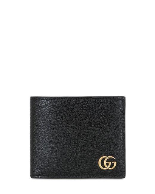 メンズ Gucci Gg Marmont Classic レザーウォレット Black