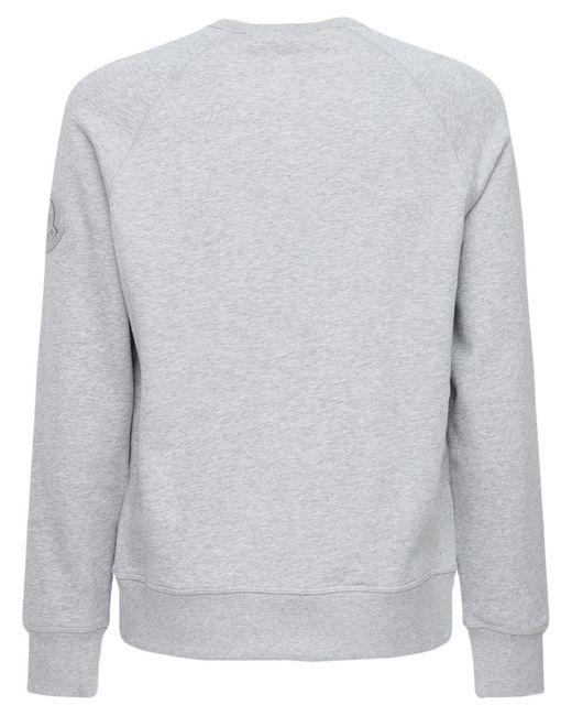 メンズ Moncler Genius コットンスウェットシャツ Gray