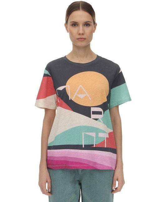 """Isabel Marant Camiseta """"Zewel"""" De Algodón Estampada de mujer xd92S"""