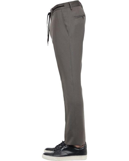 メンズ Lanvin ウールギャバジン ルーズパンツ Gray