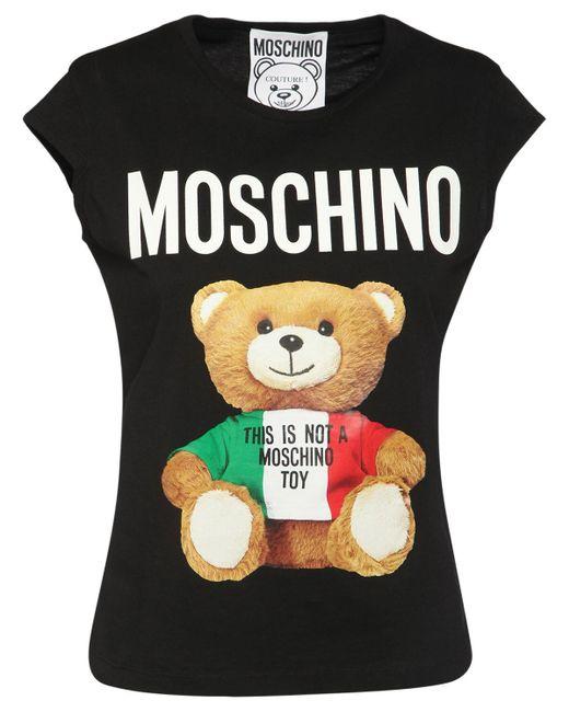 Moschino コットンジャージーtシャツ Black
