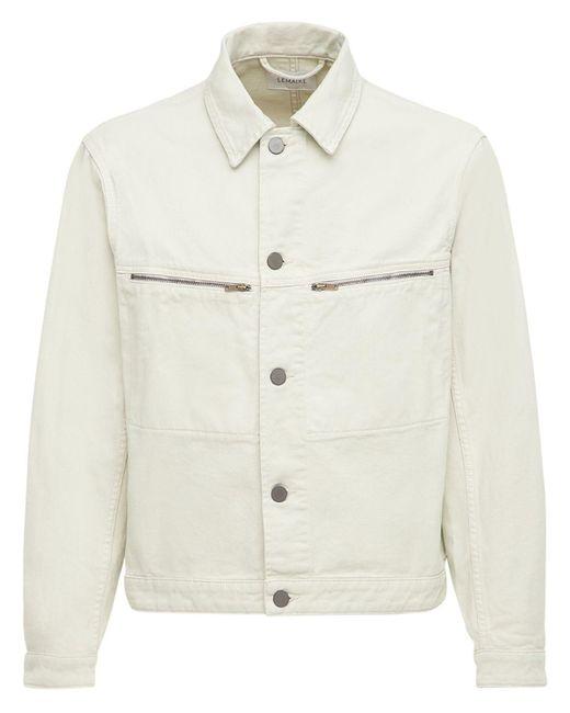 メンズ Lemaire デニムトラッカージャケット White