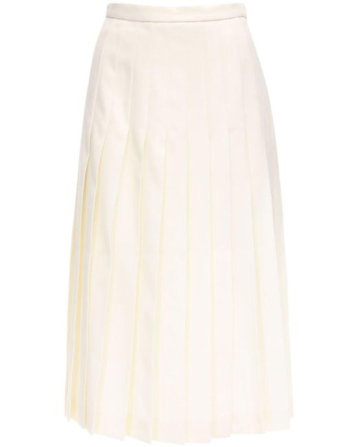 Alessandra Rich ウールプリーツスカート Multicolor