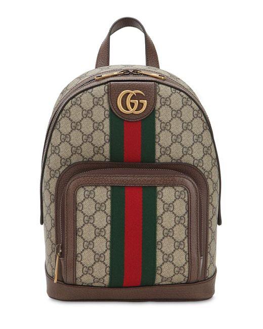 Маленький Рюкзак 'ophidia GG' Gucci для него, цвет: Brown