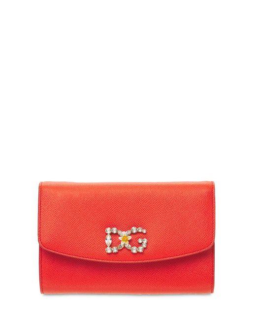 Dolce & Gabbana Dauphine レザーバッグ Orange