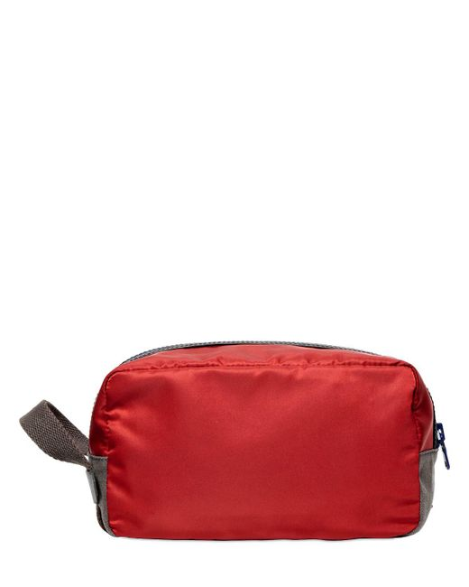 Dolce & Gabbana - Red Nylon & Dauphine Leather Toiletry Bag for Men - Lyst