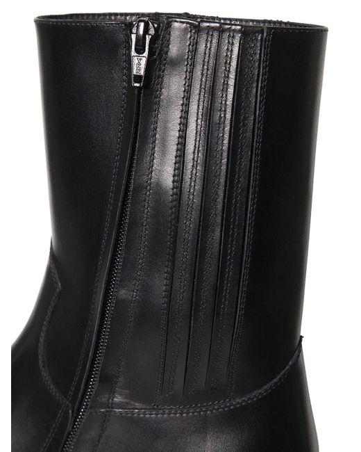 Stivali In Pelle Con Zip 55Mm di DSquared² in Black da Uomo