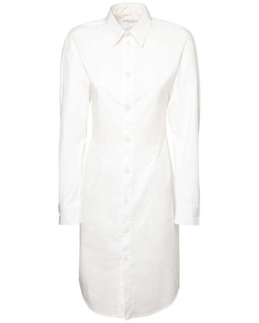Bottega Veneta ストレッチポプリンシャツドレス White