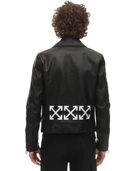Кожаная Куртка Off-White c/o Virgil Abloh для него, цвет: Black