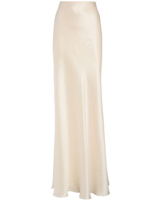 Ralph Lauren Collection ストレッチシルクサテンスカート White
