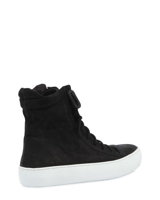 The Last Conspiracy ZIP-UP WAXED LEATHER HIGH TOP SNEAKERS 4pxib