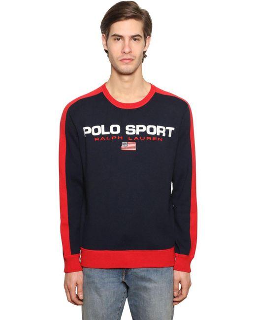 メンズ Polo Ralph Lauren コットンスウェットシャツ Blue