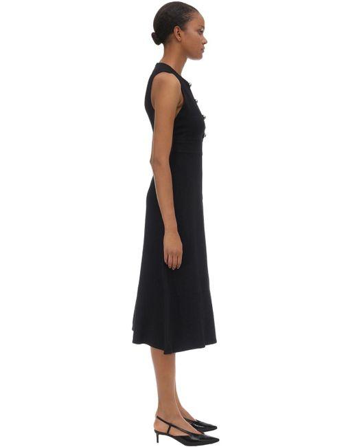 Robe En Crêpe De Viscose Proenza Schouler en coloris Black