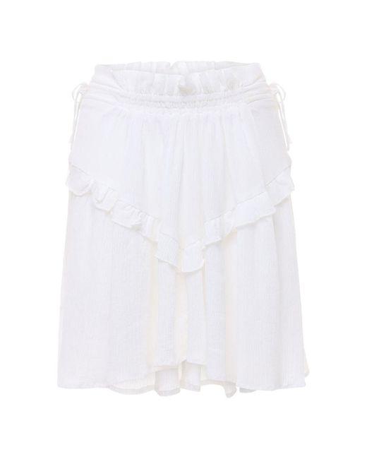 Мини-юбка Из Хлопка И Вискозы Itelo Étoile Isabel Marant, цвет: White