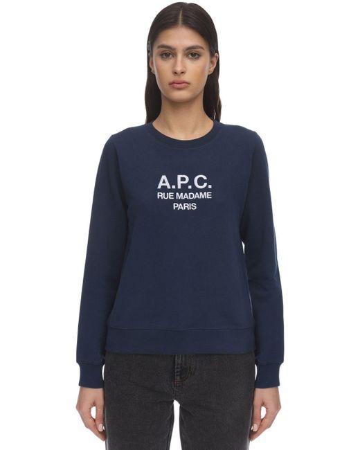 A.P.C. ネイビー Tina スウェットシャツ Blue