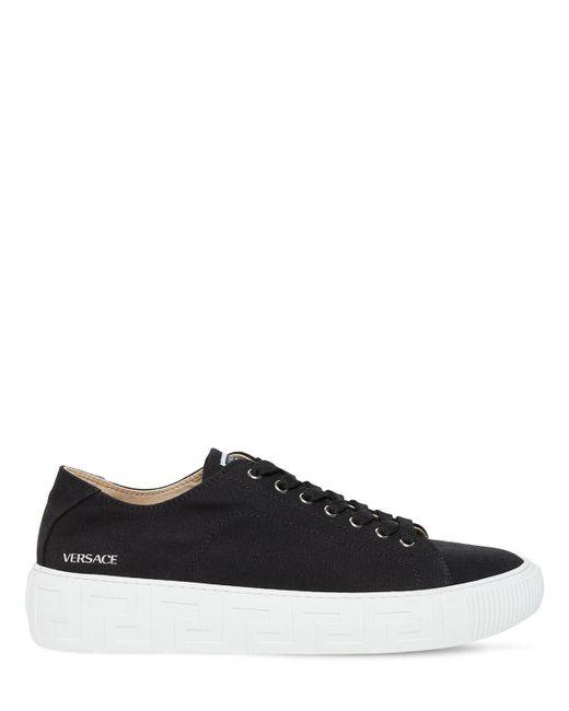 Кроссовки Из Канваса Versace для него, цвет: Black