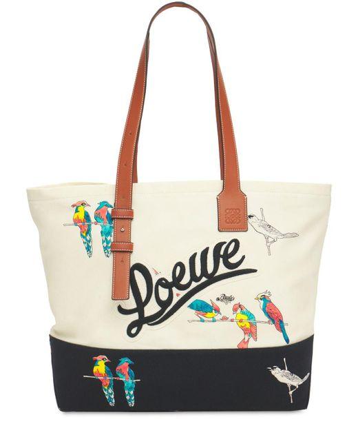 メンズ Loewe Parrots キャンバストートバッグ Multicolor