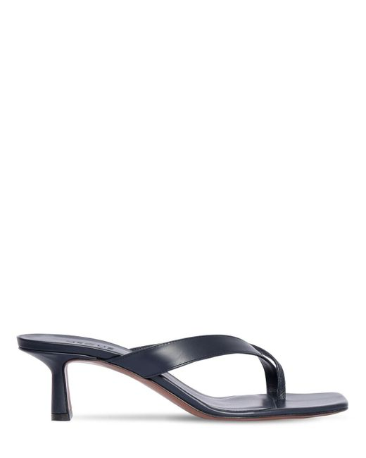 Neous Blue 55mm Leather Thong Sandals