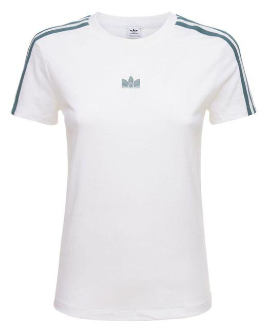 Adidas Originals スリムtシャツ White
