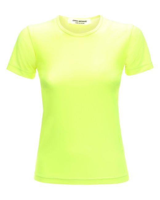 Junya Watanabe ジャージーストレッチナイロンtシャツ Yellow