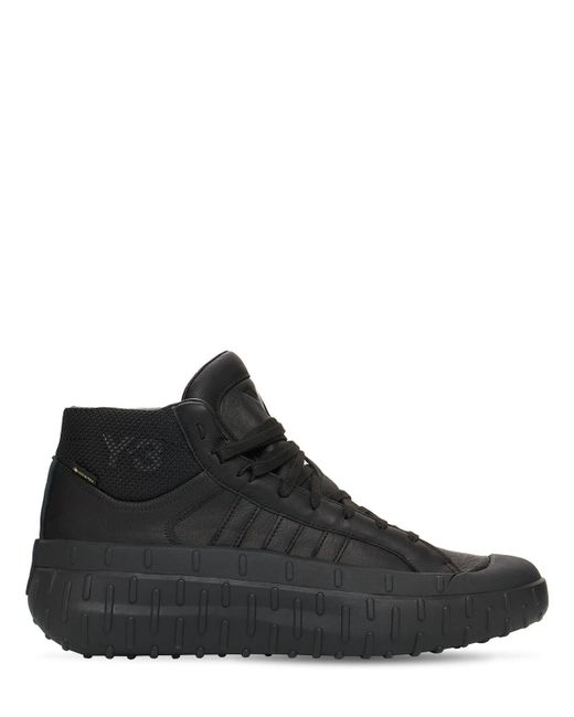 Кроссовки Из Кожи И Текстиля Xxx Y-3 для него, цвет: Black