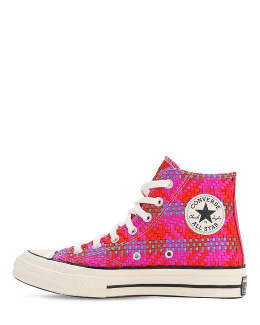 Плетеные Высокие Кеды Chuck 70 Converse, цвет: Pink