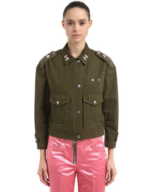 COACH コットンフィールドジャケット Green