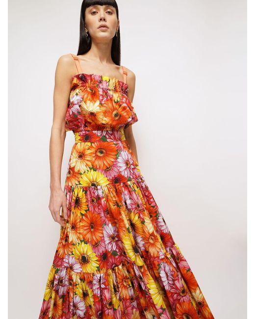 Dolce & Gabbana コットンポプリンマキシスカート Multicolor