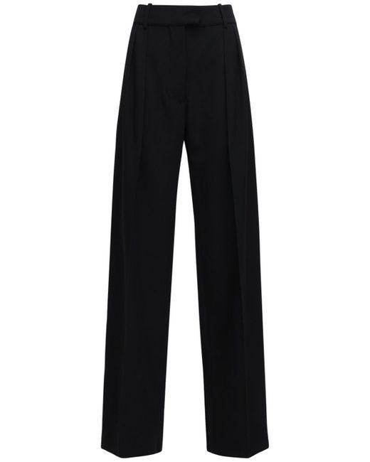 Valentino Granite ウールワイドパンツ Black