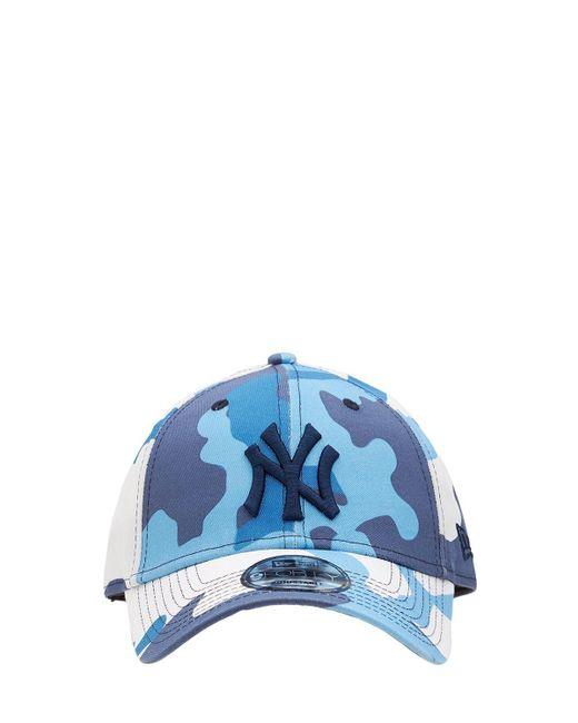 KTZ Blue Camo Pack Ny Yankees 9forty Baseball Hat for men