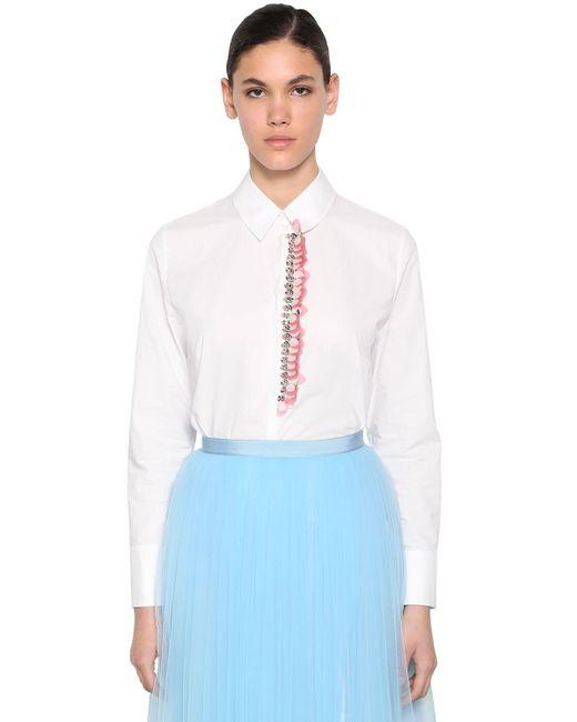 Delpozo コットンポプリンシャツ White