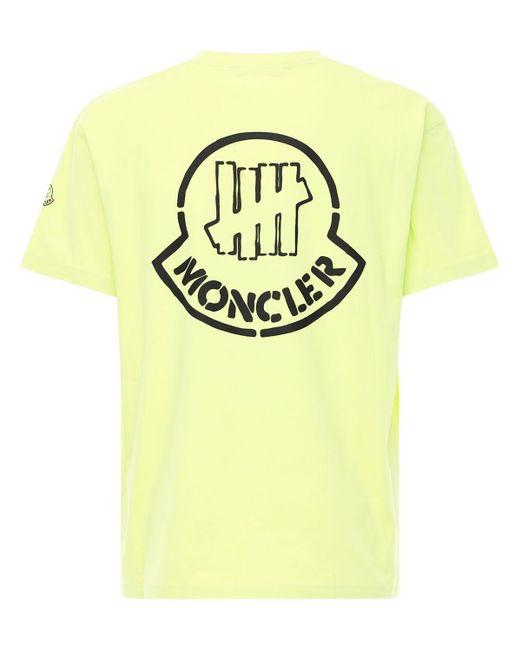 メンズ Moncler Genius Undefeated コットンジャージーtシャツ Yellow