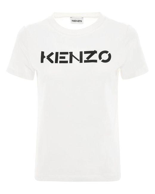 KENZO ジャージーtシャツ White