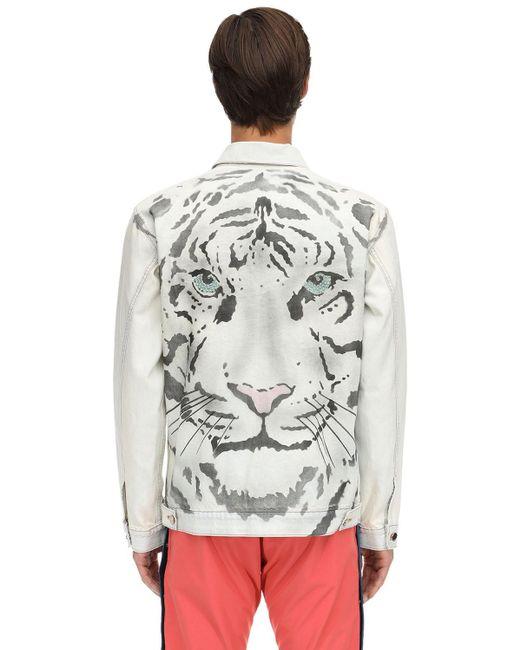 メンズ Just Don Tiger コットンデニムジャケット Multicolor