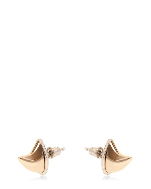 Givenchy | Metallic Shark Tooth Brass Earring | Lyst