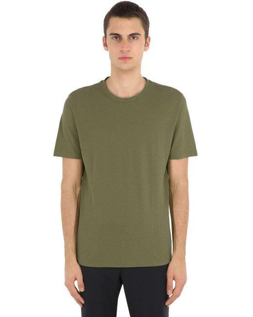 メンズ Lardini コットンジャージーtシャツ Green