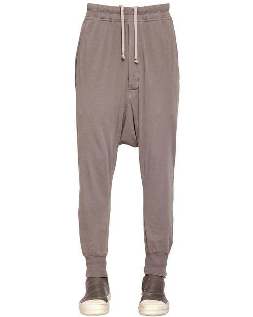 Rick Owens - Gray Drkshdw Light Cotton Jersey Sweatpants for Men - Lyst