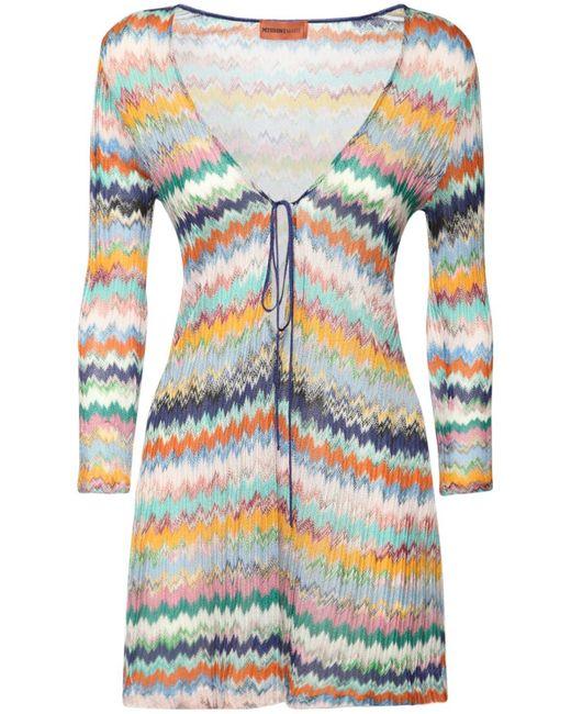 Missoni Zig Zag ビスコースニットカバーアップドレス Multicolor