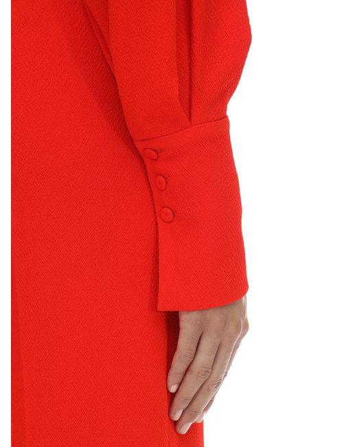 Emilia Wickstead ダブルクレープジャンプスーツ Red