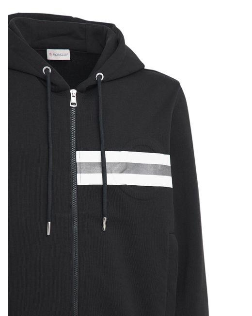 メンズ Moncler フーデッドコットンスウェットシャツ Black