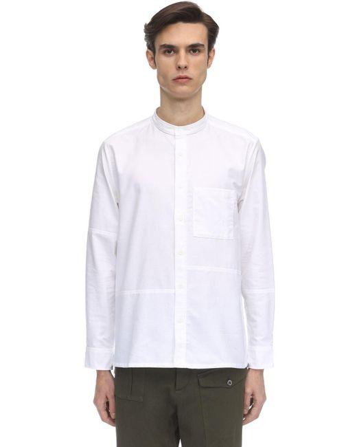 メンズ A.P.C. コットンオックスフォードシャツ White