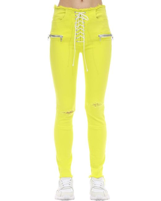 Джинсы Скинни Из Хлопка Unravel Project, цвет: Yellow