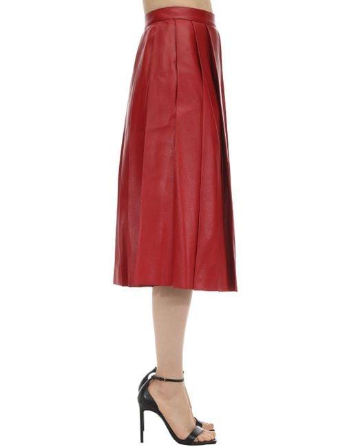 Кожаная Юбка Alexander McQueen, цвет: Red
